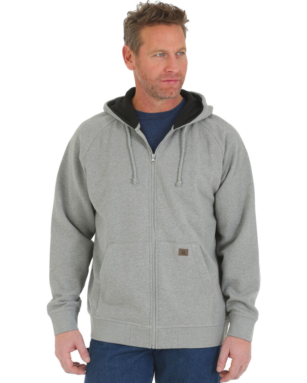 Wrangler Men's Heather Grey Riggs Workwear Hooded Sweatshirt , Heather Grey, hi-res