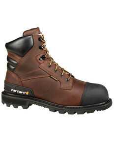 "Carhartt 6"" Brown CSA Work Boot - Steel Toe, Brown, hi-res"