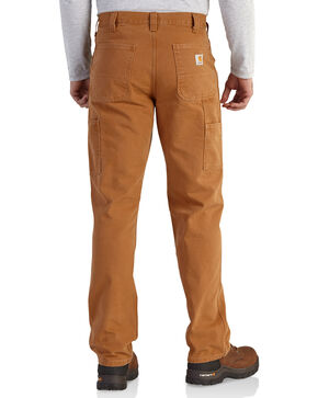 Carhartt Men's Relaxed Fit Washed Duck Work Dungarees, Pecan, hi-res