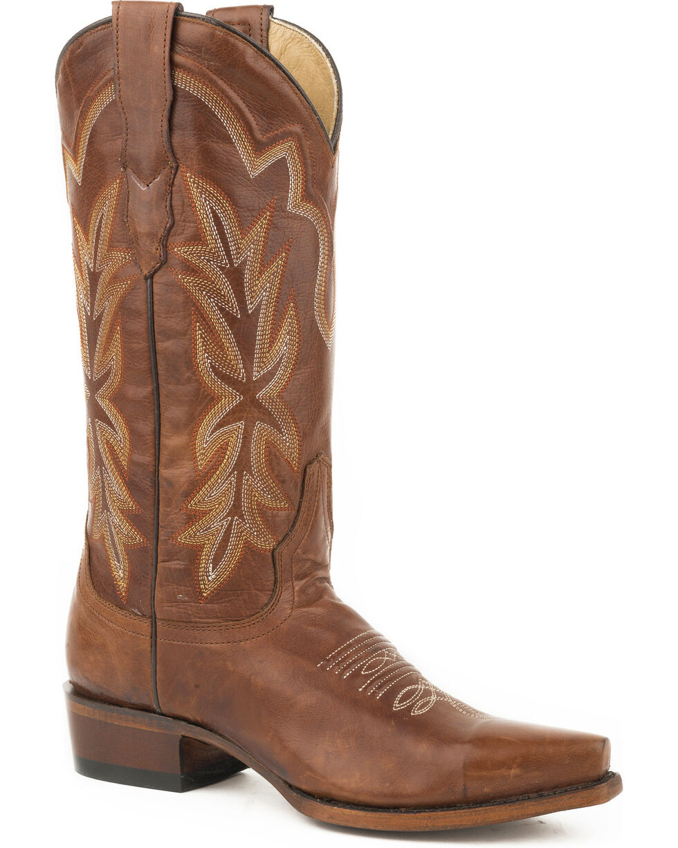 Stetson Women's Light Brown Casey Leather Boots - Snip Toe , , hi-res