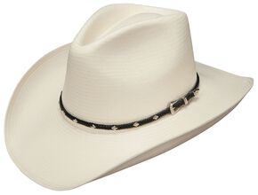 Stetson Diamond Jim 8X Shantung Straw Cowboy Hat, Natural, hi-res