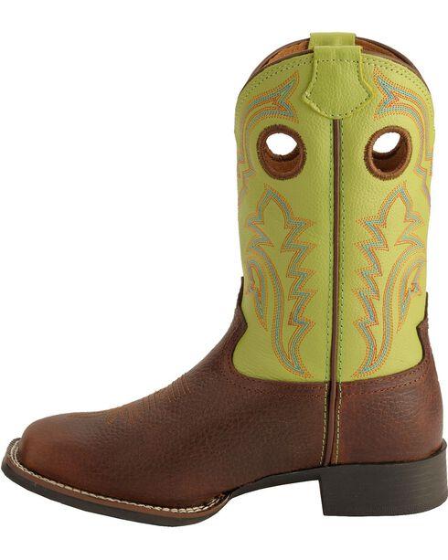 Tony Lama Youth Boys' Tiny Lama 3R Beige Cowboy Boots - Square Toe, Beige, hi-res