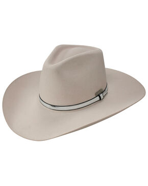 Resistol Men's John Wayne War Wagon 6x Felt Hat, Silver Belly, hi-res
