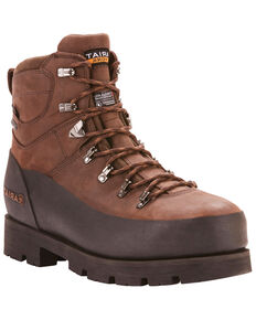 "Ariat Men's Linesman Ridge 6"" EH Insulated Work Boots - Round Composite Toe, Medium Brown, hi-res"