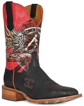 Cinch Edge Race Ready Cowboy Boots - Square Toe, Brown, hi-res