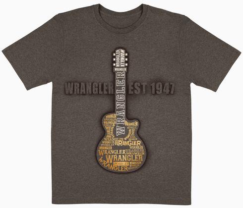 Wrangler Boys' Brown Guitar Logo Short Sleeve Tee , Brown, hi-res