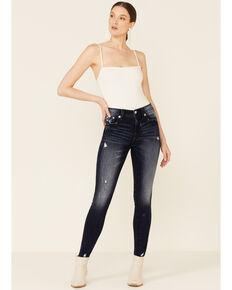 Miss Me Women's Heaven Wing Medium Wash High Rise Skinny Jeans, Dark Blue, hi-res