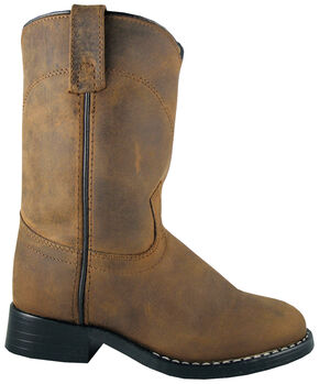 Smoky Mountain Youth Boys' Roper Western Boots - Round Toe, Brown, hi-res