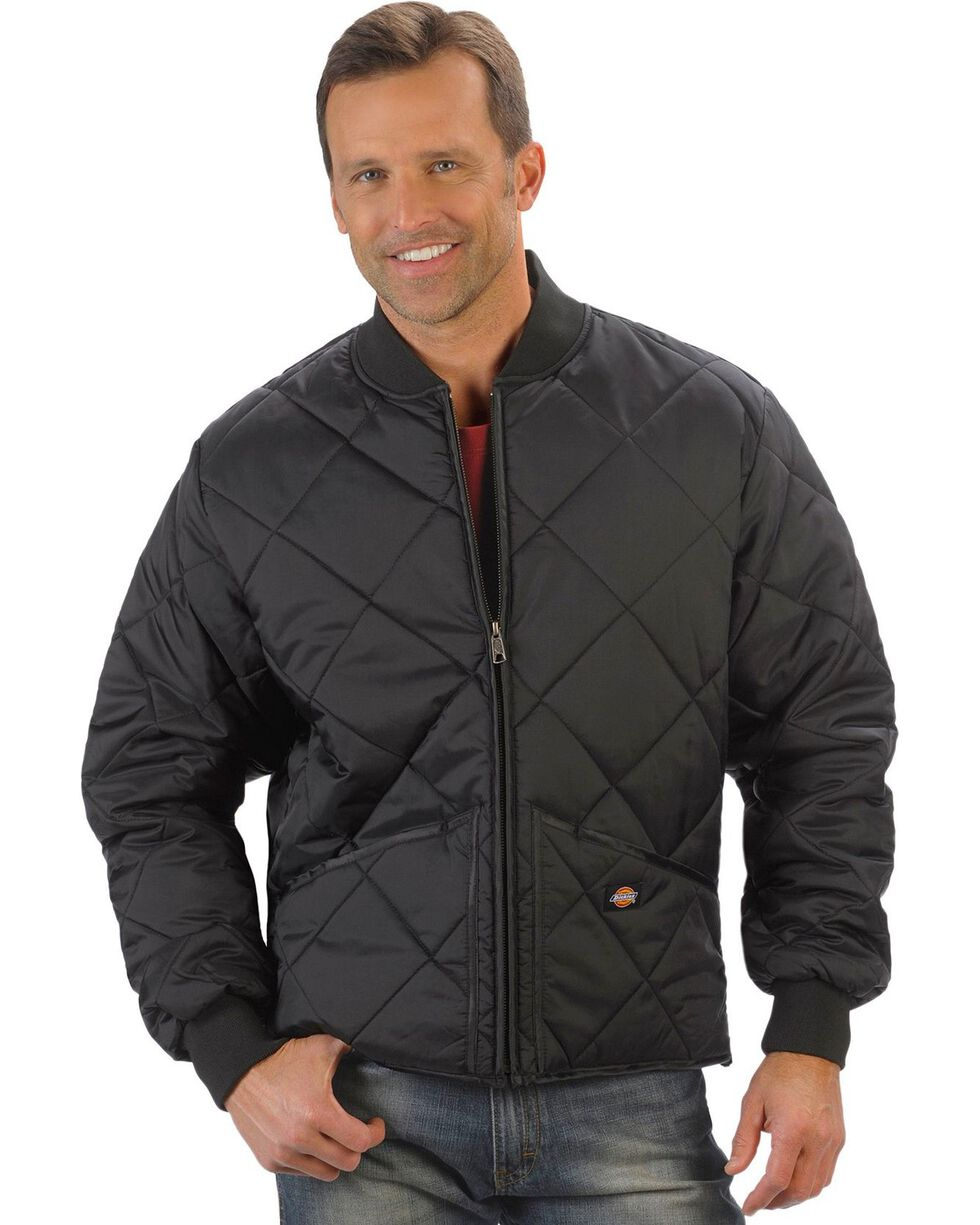 Dickies Diamond Quilted Nylon Work Jacket, Black, hi-res