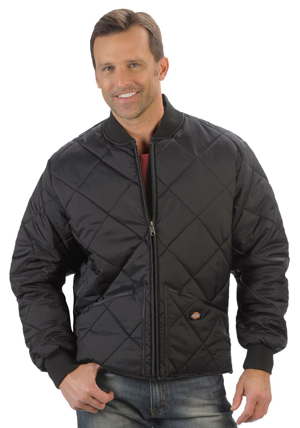Dickies Diamond Quilted Nylon Work Jacket - Big & Tall, Black, hi-res
