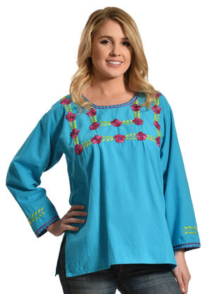 Boho Jane Blossom Top, Blue, hi-res
