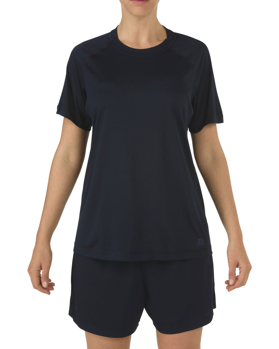 5.11 Tactical Women's Utility PT Shirt, Navy, hi-res