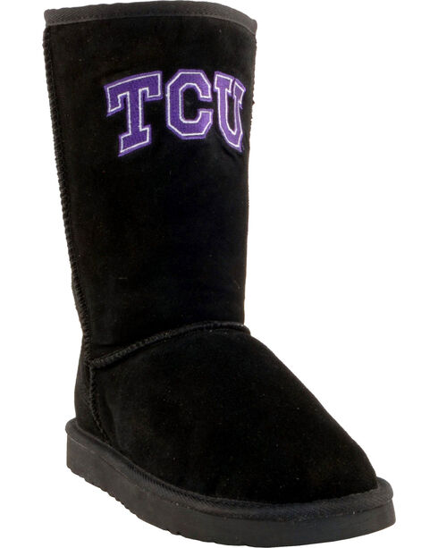 Gameday Boots Women's Texas Christian University Lambskin Boots, Black, hi-res