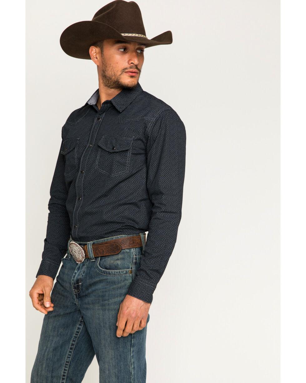 Cody James Men's Marble Falls Long Sleeve Shirt, Black, hi-res