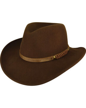 Bailey Men's Brown Prospector Wool Hat , Brown, hi-res
