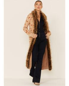 Show Me Your Mumu Women's Leopard Langston Cardigan, Tan, hi-res