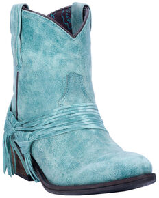 Laredo Women's Kyra Western Boots - Round Toe, Turquoise, hi-res