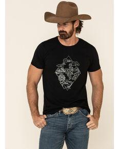 Cody James Men's Desert Diamond Graphic Short Sleeve T-Shirt , Black, hi-res