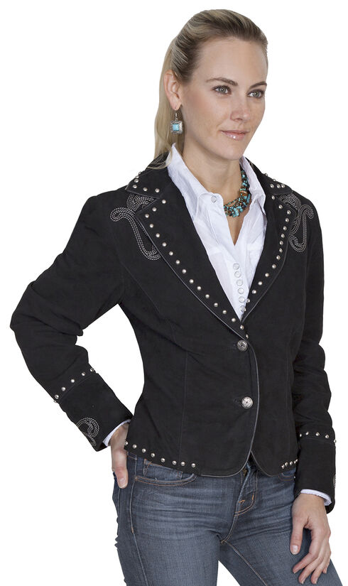 Scully Women's Bootstitch Boar Suede Jacket, Black, hi-res