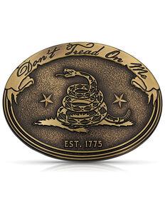 Montana Silversmiths Men's Don'e Tread On Me Gadsden Buckle, Gold, hi-res