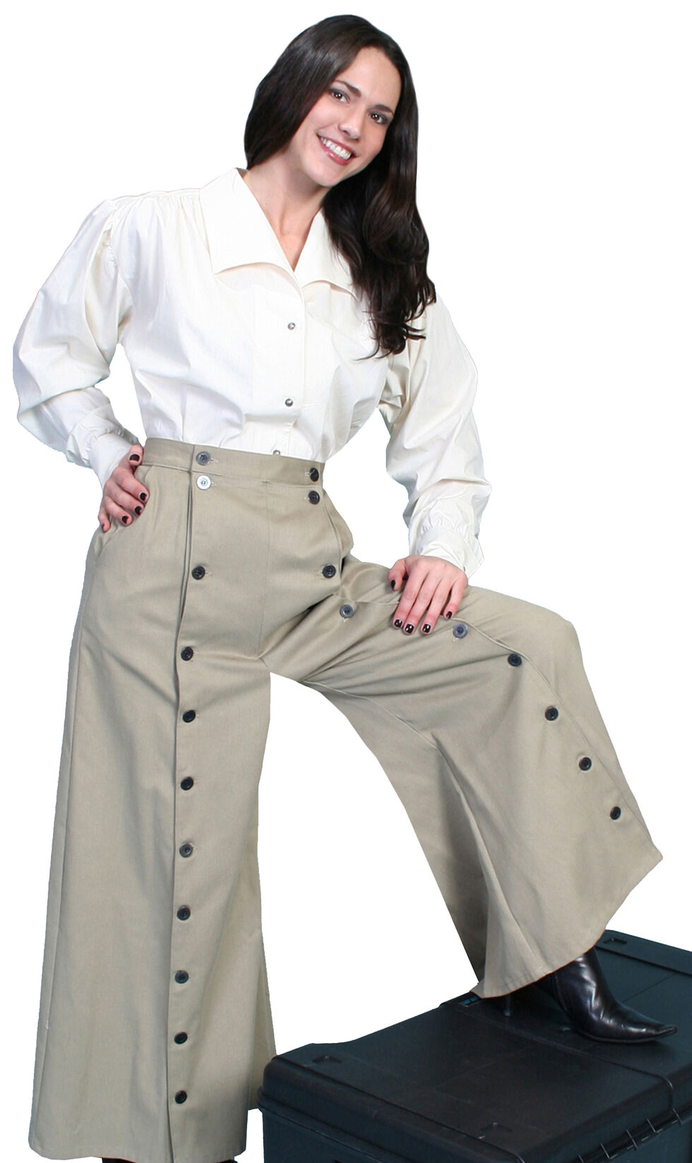 Rangewear by Scully Brushed Twill Riding Skirt, Tan, hi-res