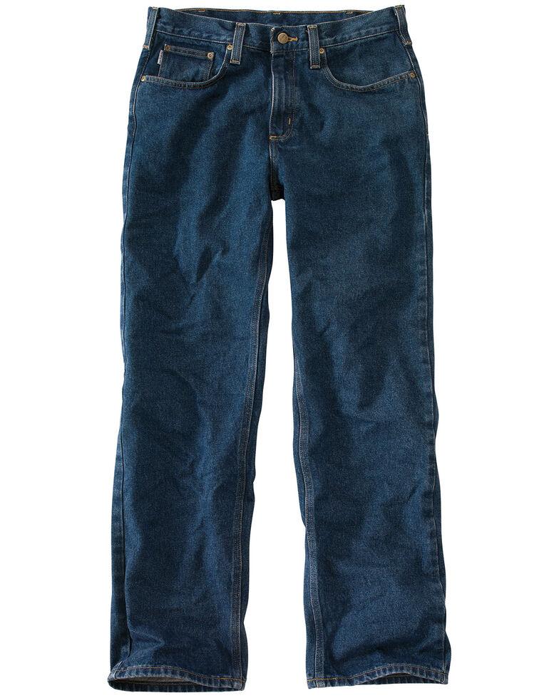 Carhartt Relaxed Fit Straight Leg Five Pocket Work Jeans, Dark Denim, hi-res