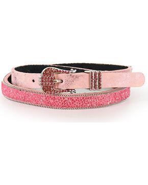 Shyanne Glitter Rhinestone Belt, Pink, hi-res