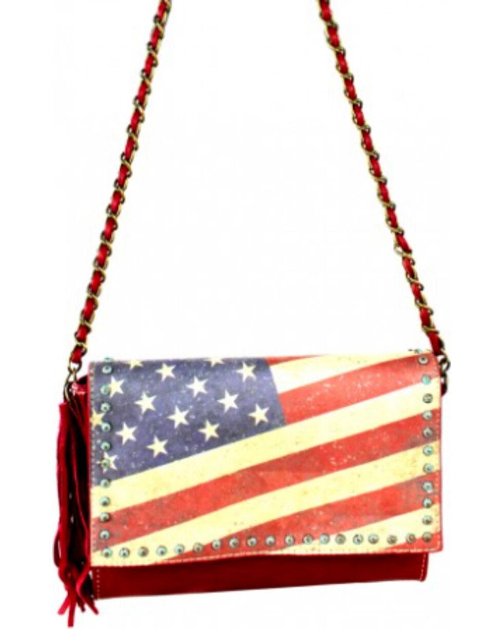 Montana West Vintage America Flag Crossbody Handbag, , hi-res