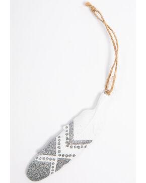 BB Ranch Silver Aztec Feather Ornament, Silver, hi-res