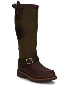 Chippewa Men's Cutter Western Work Boots - Soft Toe, Brown, hi-res