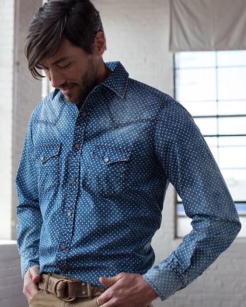 Ryan Michael Men's Indigo Star Print Shirt, Indigo, hi-res