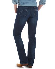 Wrangler Women's Aura Low-Rise Bootcut Jeans, Indigo, hi-res