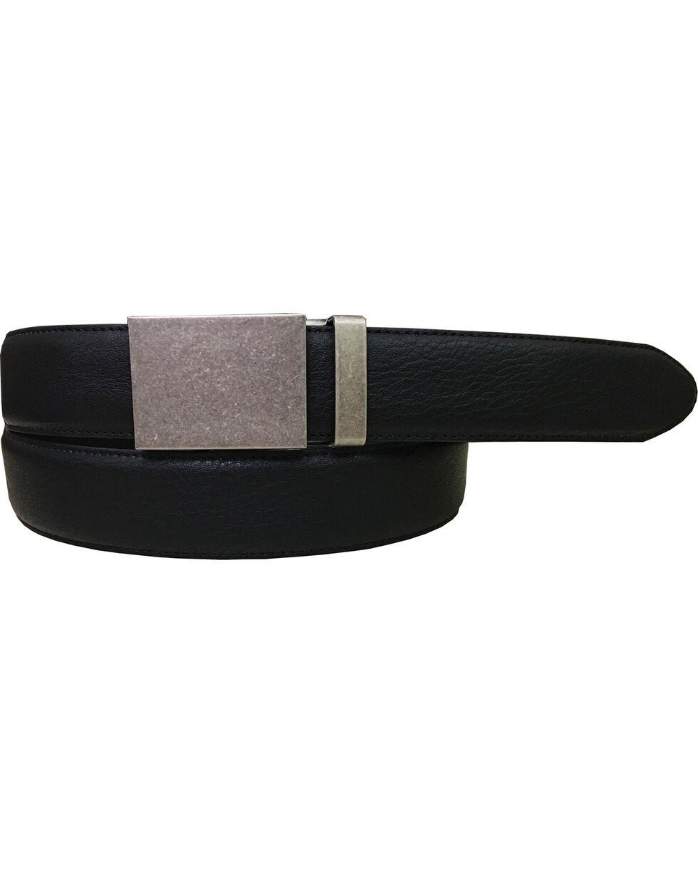 Danbury Men's Plaque Buckle Genuine Leather Belt, , hi-res