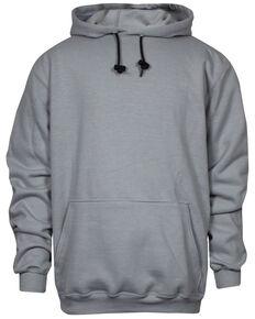 National Safety Apparel Men's Grey FR Heavyweight Hooded Work Sweatshirt - Tall, Grey, hi-res