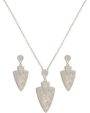 Montana Silversmiths A Keen Pursuit Arrowhead Jewelry Set, Silver, hi-res