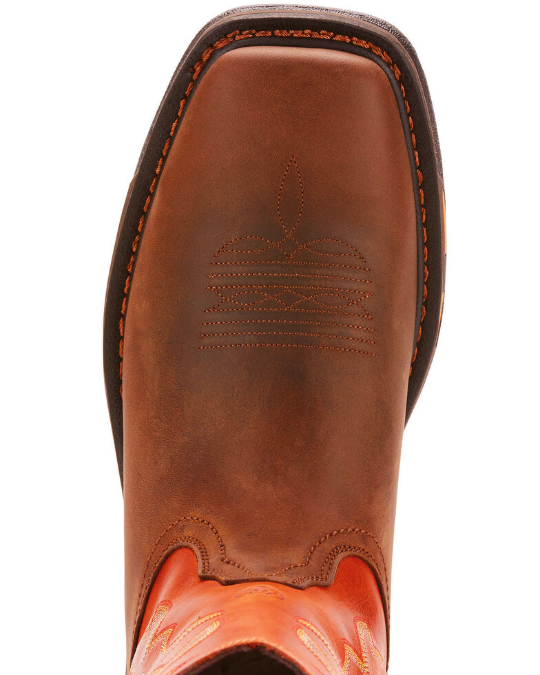 Ariat Workhog Western Work Boots - Soft Square Toe, Brown, hi-res