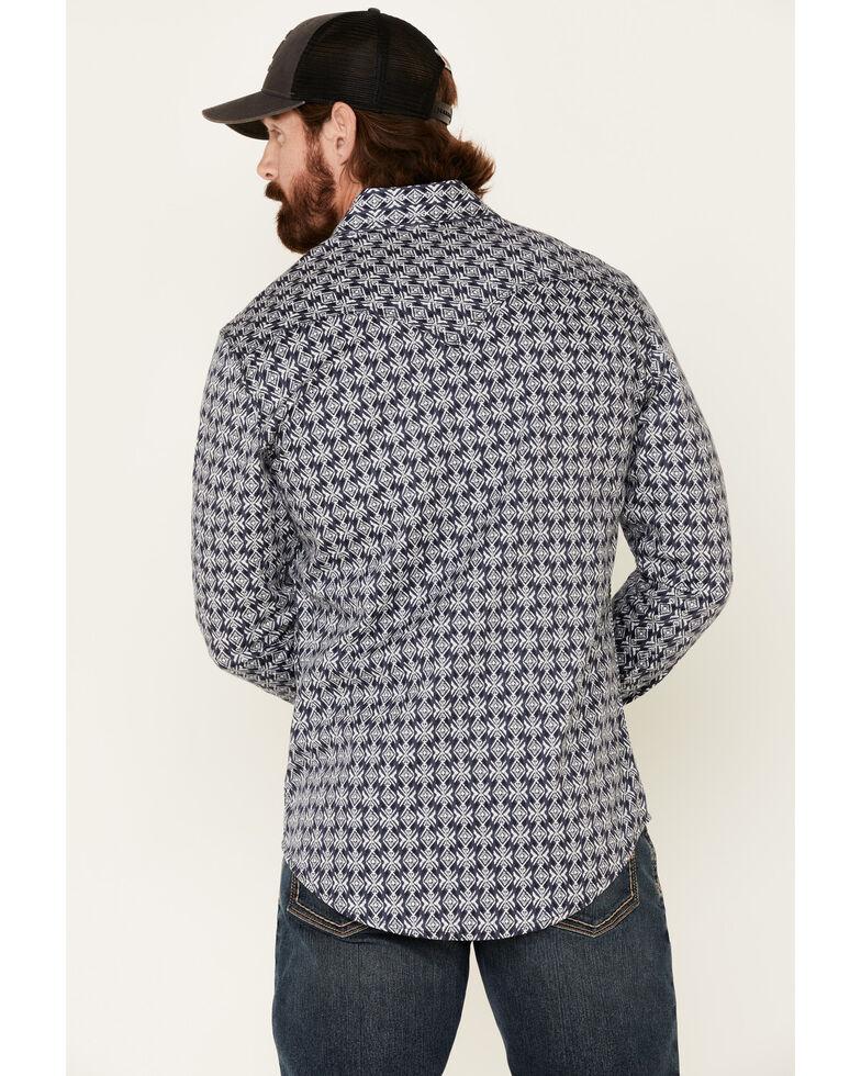 Rock & Roll Denim Men's FR Black Aztec Print Long Sleeve Work Shirt - Big , Black, hi-res