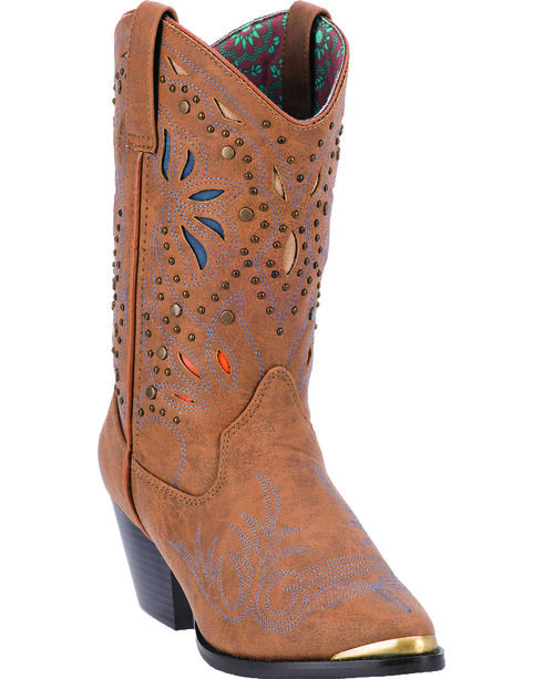 Dingo Annabelle Women's Retro Western Boots - Pointed Toe, Tan, hi-res