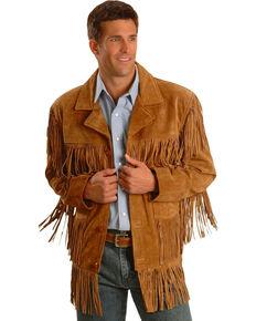 Liberty Wear Men's Tobacco Suede Fringe Jacket, Brown, hi-res