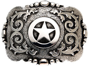 AndWest Cabrillo Vintage Tri-Tone Cross Belt Buckle, Silver, hi-res