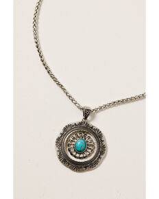 Shyanne Women's Midnight Sky Pendant With Turquoise Stone Set, Silver, hi-res