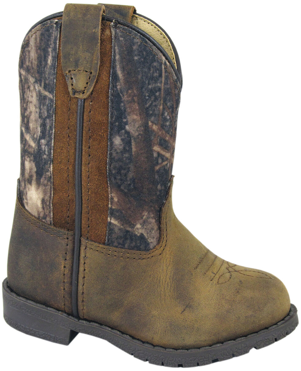 Smoky Mountain Toddler Boys' Hopalong Camo Western Boots - Round Toe, Brown, hi-res