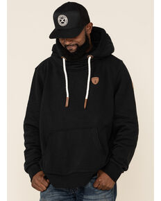 Wanakome Men's Black Cascade French Terry Hooded Sweatshirt , Black, hi-res