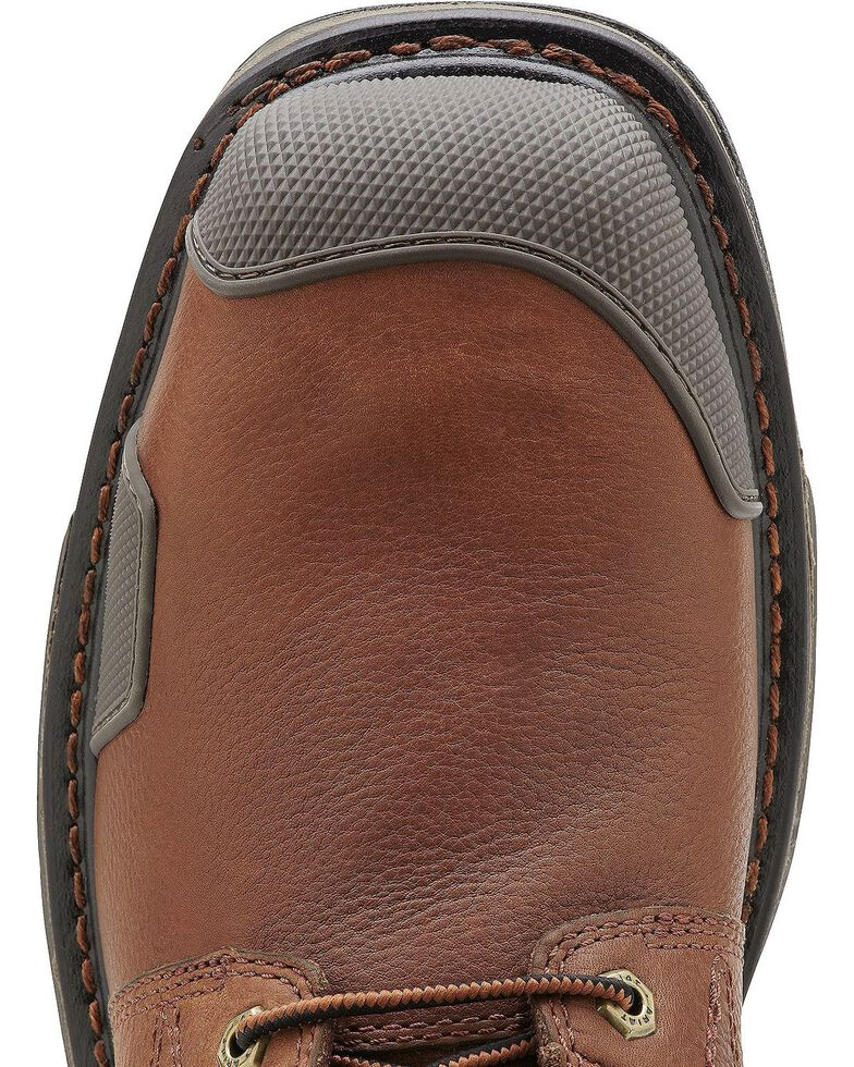 """Ariat Overdrive 8"""" Lace-Up Work Boots - Composite Toe, Chestnut, hi-res"""