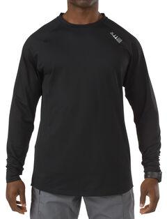 5.11 Tactical Men's Sub Z Crew Shirt - 3XL, Black, hi-res