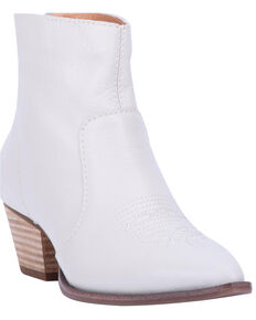 Dingo Women's Klanton Fashion Booties - Round Toe, Ivory, hi-res