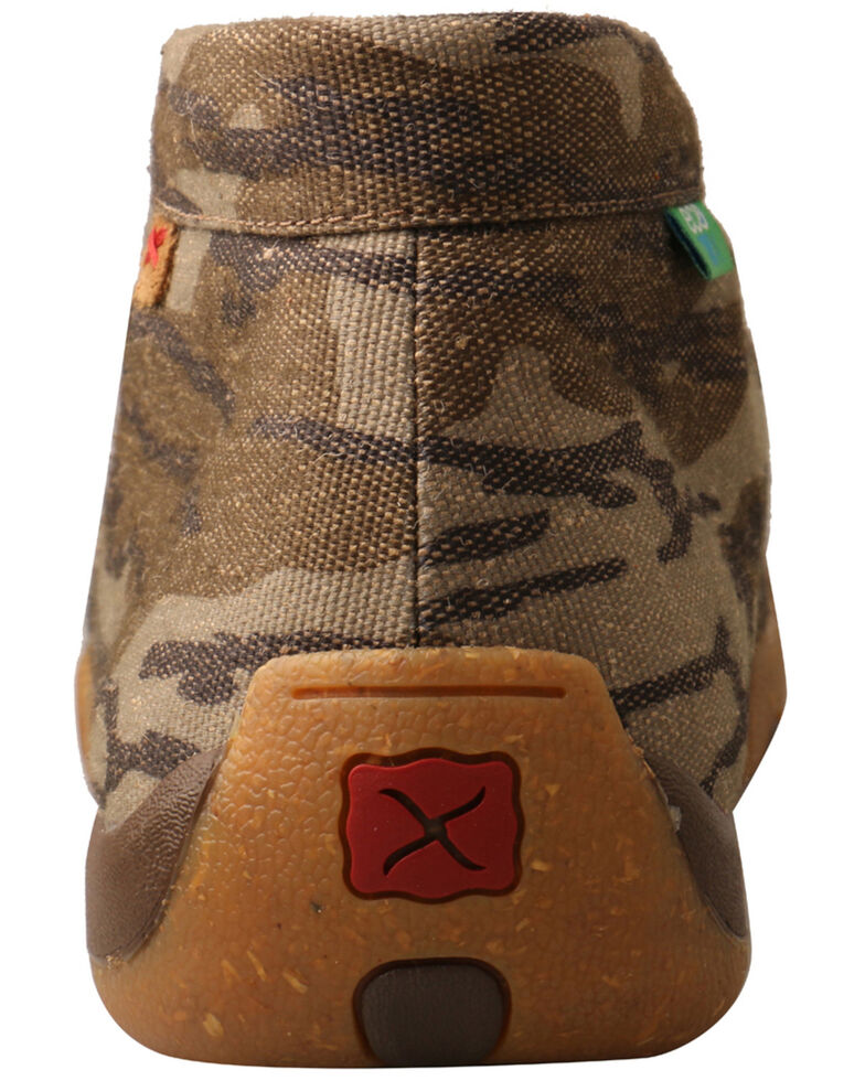 Twisted X Men's Mossy Oak Original Bottomland Driving Shoes - Moc Toe, Camouflage, hi-res
