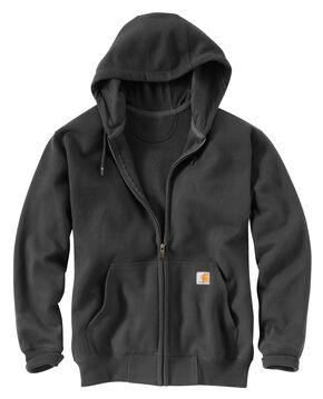 Carhartt Rain Defender Paxton Zip Front Hoodie - Big & Tall, Dark Grey, hi-res