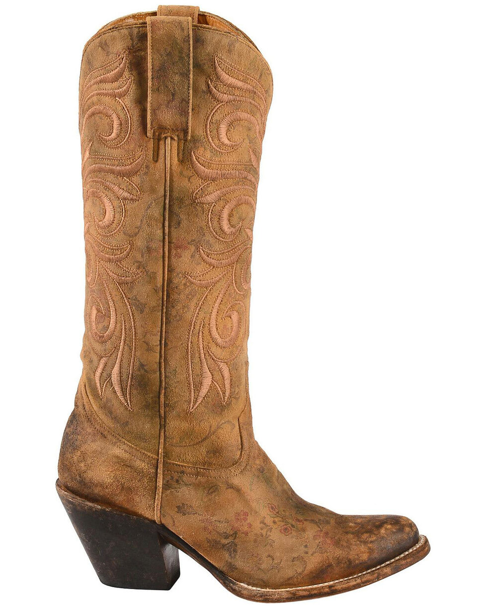 Lucchese Handmade 1883 Women's Laurelie Cowgirl Boots - Medium Toe, Brown, hi-res