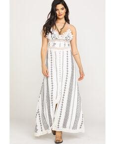 0664d6638c7 Miss Me Womens Aztec Stripe Maxi Dress, White, hi-res